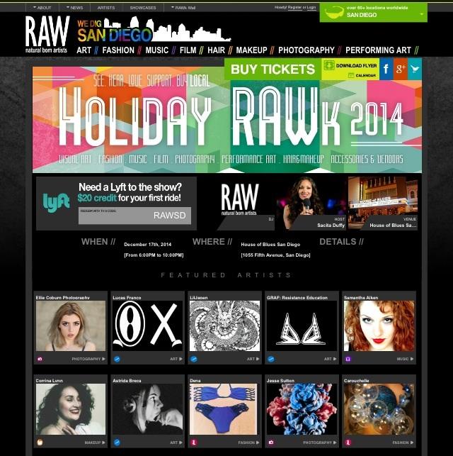 Holiday RAWK 2014 – GRAF will be a featured artist at the RAW Artist Showcase in San Diego!